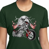 Ladies Shirt Eagle Biker Moisture Wicking Tee T-Shirt