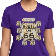 Ladies Shirt Get Your Kicks Moisture Wicking Tee T-Shirt