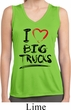 Ladies Shirt I Love Big Trucks Sleeveless Moisture Wicking Tee T-Shirt