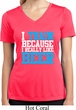 Ladies Shirt I Train For Beer Moisture Wicking V-neck Tee