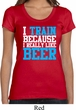 Ladies Shirt I Train For Beer Scoop Neck Tee T-Shirt