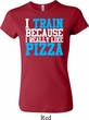 Ladies Shirt I Train For Pizza Crewneck Tee T-Shirt