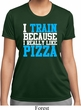 Ladies Shirt I Train For Pizza Moisture Wicking Tee T-Shirt