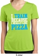 Ladies Shirt I Train For Pizza Moisture Wicking V-neck Tee