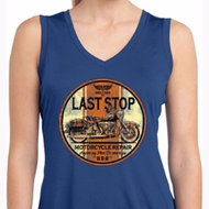Ladies Shirt Last Stop Sleeveless Moisture Wicking Tee