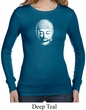 Ladies Shirt Little Buddha Head Long Sleeve Thermal Tee