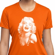 Ladies Shirt Marilyn Laughing Moisture Wicking Tee T-Shirt
