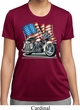 Ladies Shirt Motorcycle Flag Moisture Wicking Tee T-Shirt