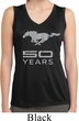Ladies Shirt Mustang 50 Years Sleeveless Moisture Wicking Tee T-Shirt