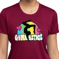 Ladies Shirt Neon Gymnastics Moisture Wicking Tee T-Shirt