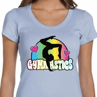 Ladies Shirt Neon Gymnastics Scoop Neck Tee T-Shirt