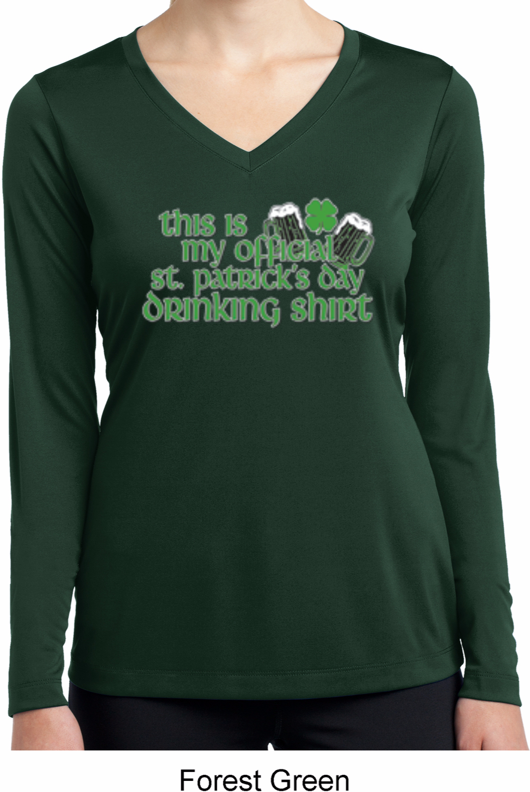 Ladies shirt official drinking shirt dry wicking long for Misses long sleeve tee shirts