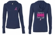 Ladies Shirt Pink Ribbon Save a Life Front & Back Tri Blend Hoodie Tee