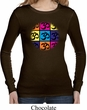 Ladies Shirt Pop Art Om Long Sleeve Thermal Tee