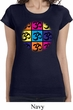 Ladies Shirt Pop Art Om Longer Length Tee T-Shirt