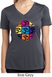 Ladies Shirt Pop Art Om Moisture Wicking V-neck Tee