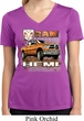 Ladies Shirt Ram Hemi Trucks Moisture Wicking V-neck Tee T-Shirt