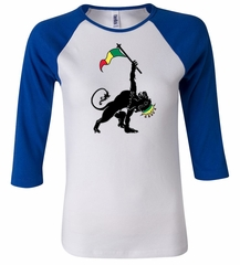 Ladies Shirt Rasta Triangle Raglan Tee T-Shirt