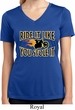 Ladies Shirt Ride It Like You Stole It Moisture Wicking V-neck Tee
