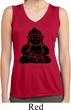 Ladies Shirt Shadow Buddha Sleeveless Moisture Wicking Tee T-Shirt