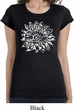 Ladies Shirt Sketch Lotus Longer Length Tee T-Shirt