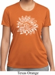Ladies Shirt Sketch Lotus Moisture Wicking Tee T-Shirt