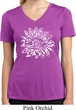 Ladies Shirt Sketch Lotus Moisture Wicking V-neck Tee