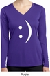 Ladies Shirt Smiley Chat Face Dry Wicking Long Sleeve Tee