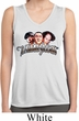 Ladies Shirt Stooges Faces Sleeveless White Moisture Wicking Tee