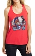Ladies Shirt Tanktop Big Chief Indian Motorcycle Loop Back Tank Top