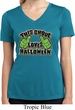 Ladies Shirt This Ghoul Loves Halloween Moisture Wicking V-neck Tee