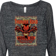 Ladies Shirt Thunder Road Off Shoulder Tee T-Shirt
