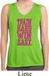 Ladies Shirt Train Hard Win Easy Sleeveless Moisture Wicking T-Shirt