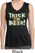 Ladies Shirt Trick Or Beer Sleeveless Moisture Wicking Tee T-Shirt