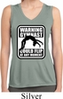 Ladies Shirt Warning Gymnast Sleeveless Moisture Wicking Tee T-Shirt