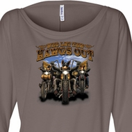 Ladies Shirt Who Let The Hawgs Out Off Shoulder Tee T-Shirt
