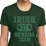 Ladies Shirts Irish Drinking Team Moisture Wicking Tee T-Shirt