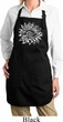 Ladies Sketch Lotus Full Length Apron with Pockets