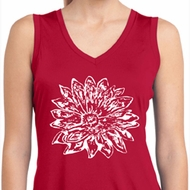 Ladies Sketch Lotus Sleeveless Moisture Wicking Tee