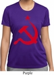 Ladies Soviet Shirt Red Hammer And Sickle Moisture Wicking Tee