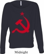 Ladies Soviet Shirt Red Hammer And Sickle Off Shoulder Tee T-Shirt
