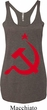 Ladies Soviet Tanktop Red Hammer And Sickle Tri Blend Racerback Tank