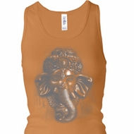 Ladies Tanktop 3D Ganesha Lights Longer Length Racerback Tank Top
