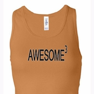 Ladies Tanktop Awesome Cubed Longer Length Racerback Tank Top