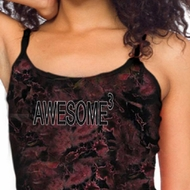 Ladies Tanktop Awesome Cubed Tie Dye Tank Top