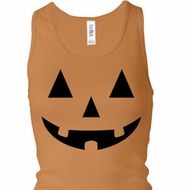Ladies Tanktop Black Jack O Lantern Longer Length Racerback Tank Top