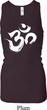 Ladies Tanktop Brushstroke Aum Longer Length Racerback Tank