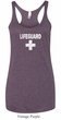 Ladies Tanktop Distressed Lifeguard Tri Blend Racerback Tank Top