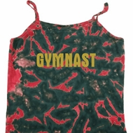 Ladies Tanktop Gold Shimmer Gymnast Tie Dye Camisole Tank Top