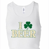 Ladies Tanktop I Love Beer Longer Length Racerback Tank Top